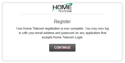 Step 6: Congratulations! You are now registered with HomeTV2Go!