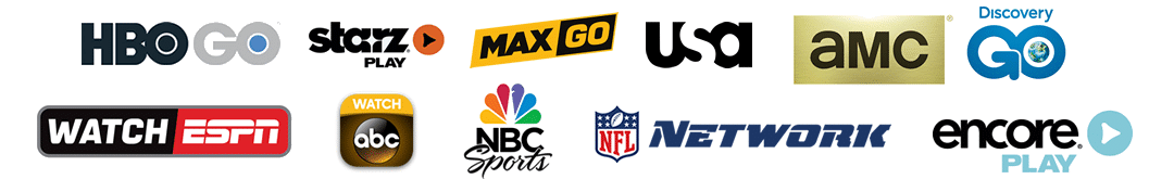 Featuring HBOGO HBO MAX, USA, ESPN, Bravo, Syfy, CNBC and much more