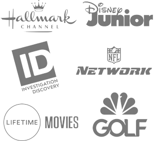 Hallmark Channel, Disney Junior, Investigation Discovery, NFL Network, Lifetime Movies, NBC Golf and more